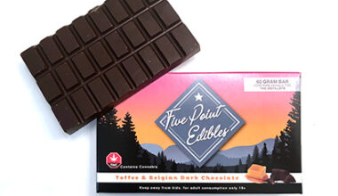 five point edibles toffee and belgian chocolate