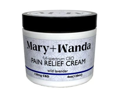 mary+wanda cbd pain relief cream wild lavender